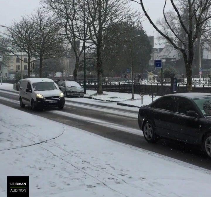 La neige est arrivée sur Quimper